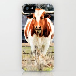 Texas Longhorn Morning iPhone Case