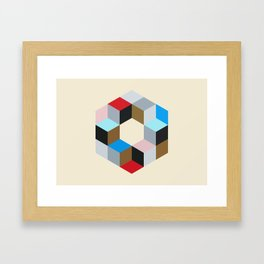 Hex Framed Art Print