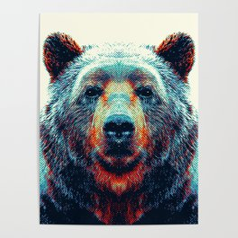 Bear - Colorful Animals Poster