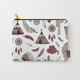 Westernstyle | Cowboy and American Indian pattern design Carry-All Pouch
