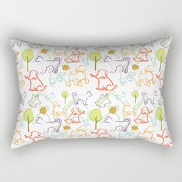 Dog Pattern Rectangular Pillow