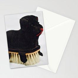 Antique Velvet Dog Lint Brush Stationery Cards
