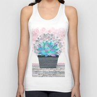 succulent Tank Tops featuring succulent by Asja Boros