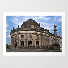 Urban Berlin Landscape with dramatic clouds Art Print
