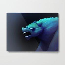 Blue Beast Metal Print