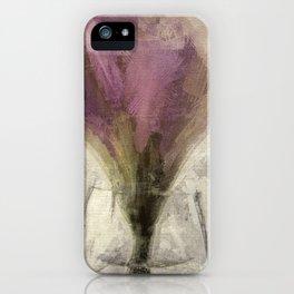 Purple Tulip in Glass Vase iPhone Case
