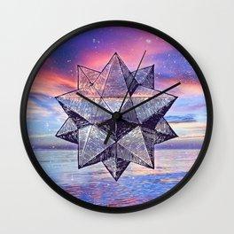 Sacred Geometry Universe 8 Wall Clock