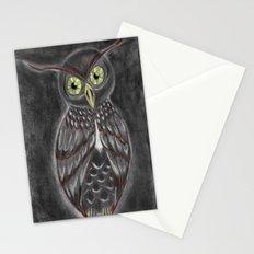 Stylized Owl (Darkened Version) Stationery Cards