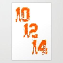 Black / Orange Dynasty Art Print