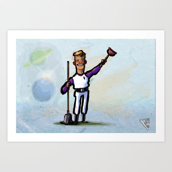 Use Verb on Noun #12: Space Quest Art Print