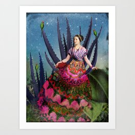 Blue Agave and Cacao Art Print