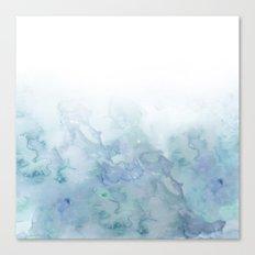 Watercolor aqua sea Canvas Print
