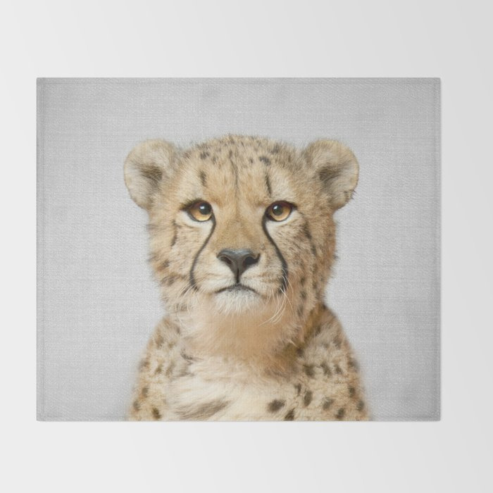 cheetah colorful throw blanket by galdesign society6