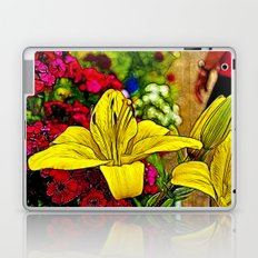 Fractal Yellow Lily Laptop & iPad Skin