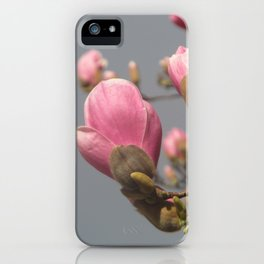 Magnolia e cielo plumbeo iPhone Case