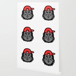 Gorilla Wearing Cap Mascot Wallpaper