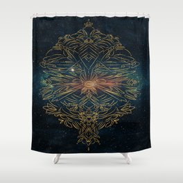 Cosmic blast Shower Curtain