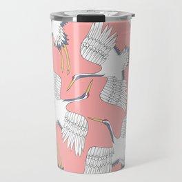Pink Cranes Travel Mug