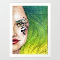 fierce Art Prints featuring Fierce  by StaceyPatinoArt