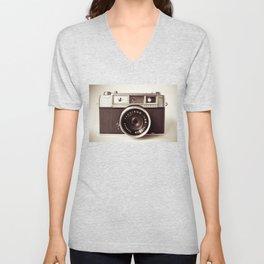 old camera photography, Camera photograph Unisex V-Neck