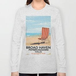 Broad Haven, Pembrokeshire,wales seaside Long Sleeve T-shirt