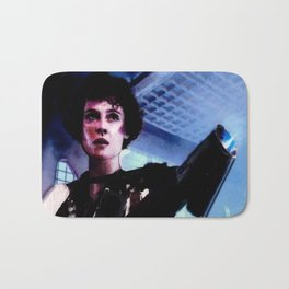"Sigourney Weaver. In the movie ""Aliens"" Bath Mat"