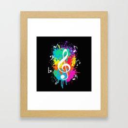 Music grunge Framed Art Print