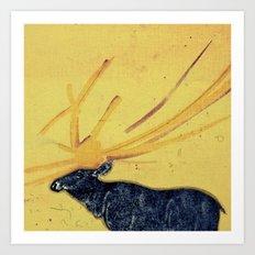 horns Art Print