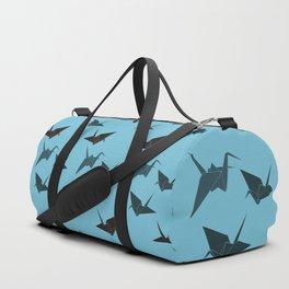 Blue origami cranes Duffle Bag