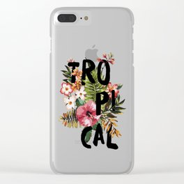 Tropical I Clear iPhone Case