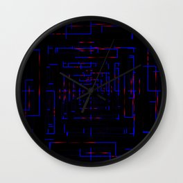 Banners with blue electronic cards. Wall Clock