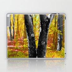 Yellow Trees in Summer Laptop & iPad Skin