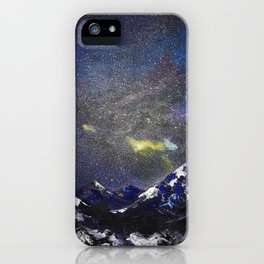 Mountains in night iPhone Case