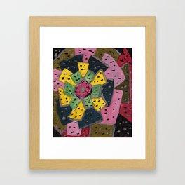 Squareland -flower Framed Art Print