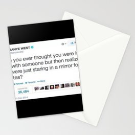 kany west tweet Stationery Cards