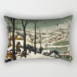 The Hunters in the Snow - Pieter Bruegel the Elder Rectangular Pillow