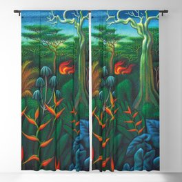 Aves del Paraiso - Birds of Paradise by Miguel Covarrubias Blackout Curtain