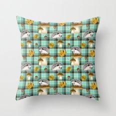 Hedgehogs Throw Pillow