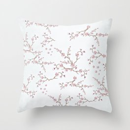 SAKURA LOVE - GRUNGE WHITE Throw Pillow