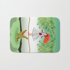 Halloween the girl with the crocodile iPhone 4 4s 5 5s 5c, ipod, ipad, pillow case and tshirt Bath Mat