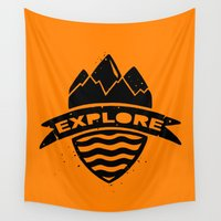 explore Wall Tapestries featuring Explore  by Dylan Morang