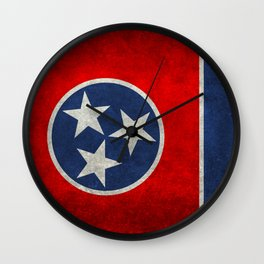 Tennessee State flag, Vintage version Wall Clock