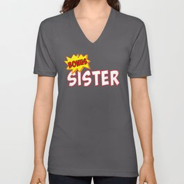 Bonus Sister Funny Stepsister Siblings Unisex V-Neck