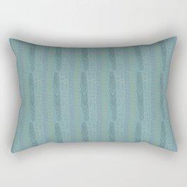 Tribal Charcoal Feather Rectangular Pillow