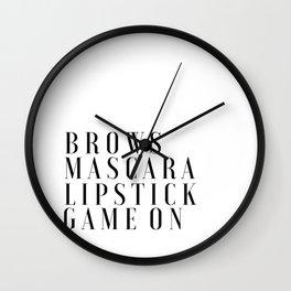 PRINTABLE Art,Makeup Print,Makeup Bathroom Decor,Girls Room Decor,Girls Bedroom Decor,Mascara Print Wall Clock