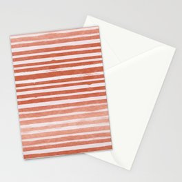 Copper Foil Stripes Stationery Cards