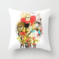 pixar Throw Pillows featuring Disney Pixar Play Parade - Incredibles Unit by Joey Noble
