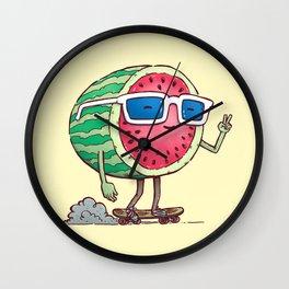 Watermelon Skater Wall Clock