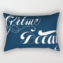 Grimey Type. Rectangular Pillow