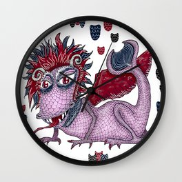 limited palette dragon Wall Clock